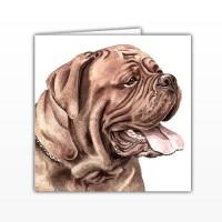 WaggyDogz Dogue de Bordeaux Greetings Card