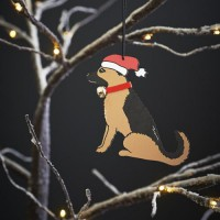 Sweet William German Shepherd Christmas Decoration