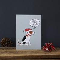 Sweet William Jack Russell Christmas Card