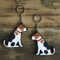 Sweet William Jack Russell Keyring