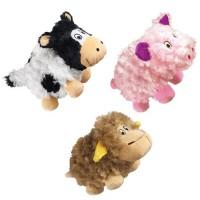 KONG Barnyard Cruncheez Plush Toy