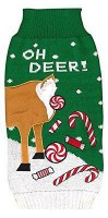 New York Dog Oh Deer Christmas Sweater