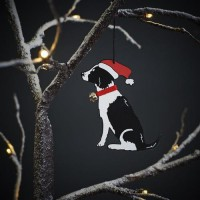 Sweet William Black Springer Spaniel Christmas Decoration