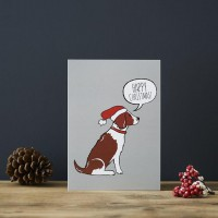 Sweet William Liver Springer Spaniel Christmas Card