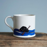 Mischievous Mutts Swimming Labrador Mug