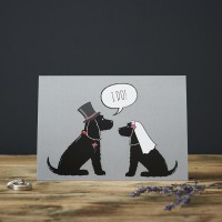 Sweet William Cocker Spaniel Wedding Card