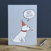 Sweet William Westie Birthday Card