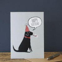 Sweet William Black Labrador Birthday Card