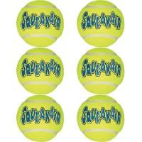 KONG Squeakair Tennis Balls Medium 6pk