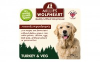 Millies Wolfheart Turkey and Vegetable Wet Food 395g